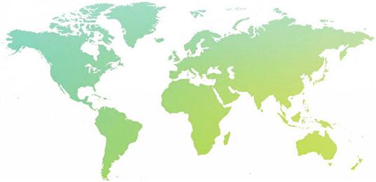 Dækningsoversigt - hvad er udvidet Europa og hvad er resten af verden?