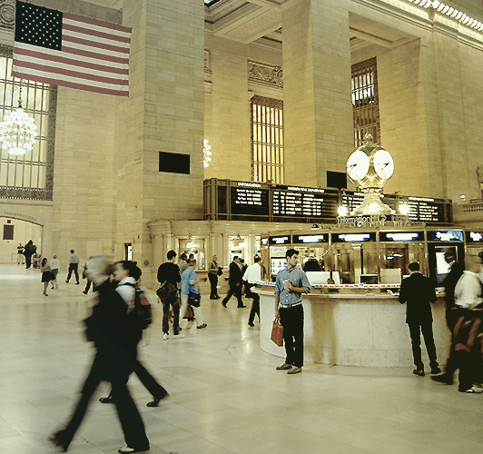 Rejseforsikring til USA - Grand Central Station i New York City